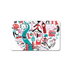 London Illustration City Magnet (name Card) by Mariart