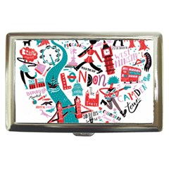 London Illustration City Cigarette Money Cases by Mariart