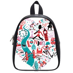 London Illustration City School Bag (small) by Mariart