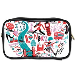London Illustration City Toiletries Bags by Mariart