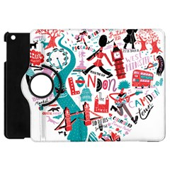 London Illustration City Apple Ipad Mini Flip 360 Case by Mariart