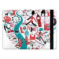 London Illustration City Samsung Galaxy Tab Pro 12 2  Flip Case by Mariart
