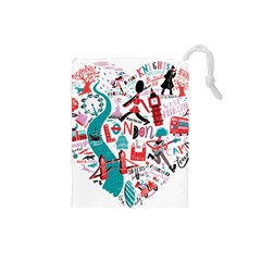 London Illustration City Drawstring Pouches (small)  by Mariart