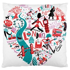 London Illustration City Standard Flano Cushion Case (two Sides) by Mariart