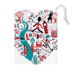 London Illustration City Drawstring Pouches (extra Large) by Mariart