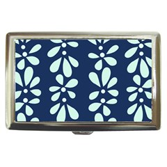 Star Flower Floral Blue Beauty Polka Cigarette Money Cases by Mariart