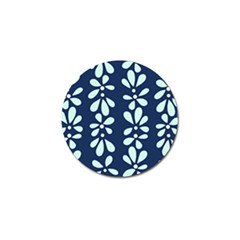Star Flower Floral Blue Beauty Polka Golf Ball Marker (10 Pack) by Mariart
