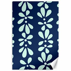 Star Flower Floral Blue Beauty Polka Canvas 20  X 30   by Mariart