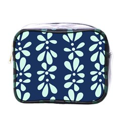 Star Flower Floral Blue Beauty Polka Mini Toiletries Bags by Mariart
