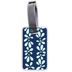 Star Flower Floral Blue Beauty Polka Luggage Tags (one Side)  by Mariart