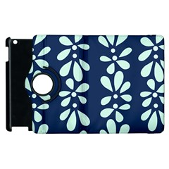 Star Flower Floral Blue Beauty Polka Apple Ipad 3/4 Flip 360 Case by Mariart