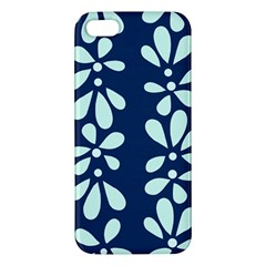 Star Flower Floral Blue Beauty Polka Iphone 5s/ Se Premium Hardshell Case by Mariart