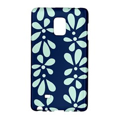 Star Flower Floral Blue Beauty Polka Galaxy Note Edge by Mariart