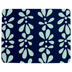 Star Flower Floral Blue Beauty Polka Jigsaw Puzzle Photo Stand (rectangular) by Mariart