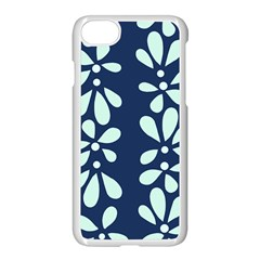 Star Flower Floral Blue Beauty Polka Apple Iphone 7 Seamless Case (white) by Mariart