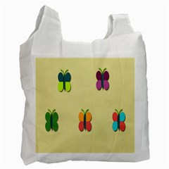 Spring Butterfly Wallpapers Beauty Cute Funny Recycle Bag (two Side)