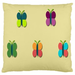 Spring Butterfly Wallpapers Beauty Cute Funny Large Cushion Case (one Side) by Mariart
