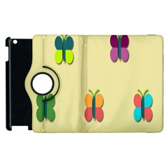 Spring Butterfly Wallpapers Beauty Cute Funny Apple Ipad 3/4 Flip 360 Case by Mariart