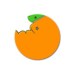 Star Line Orange Green Simple Beauty Cute Magnet 3  (round)