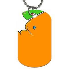 Star Line Orange Green Simple Beauty Cute Dog Tag (two Sides) by Mariart