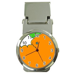 Star Line Orange Green Simple Beauty Cute Money Clip Watches by Mariart