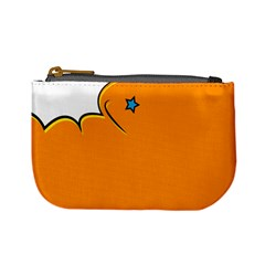 Star Line Orange Green Simple Beauty Cute Mini Coin Purses by Mariart