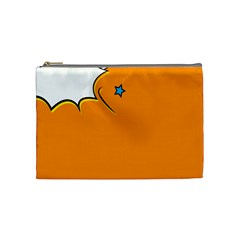 Star Line Orange Green Simple Beauty Cute Cosmetic Bag (medium)