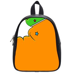 Star Line Orange Green Simple Beauty Cute School Bag (small) by Mariart