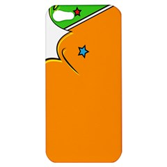 Star Line Orange Green Simple Beauty Cute Apple Iphone 5 Hardshell Case by Mariart