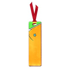 Star Line Orange Green Simple Beauty Cute Small Book Marks by Mariart