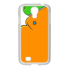 Star Line Orange Green Simple Beauty Cute Samsung Galaxy S4 I9500/ I9505 Case (white) by Mariart