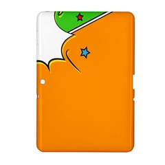 Star Line Orange Green Simple Beauty Cute Samsung Galaxy Tab 2 (10 1 ) P5100 Hardshell Case  by Mariart