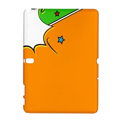 Star Line Orange Green Simple Beauty Cute Galaxy Note 1 by Mariart