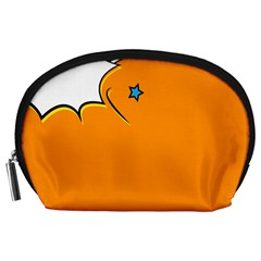 Star Line Orange Green Simple Beauty Cute Accessory Pouches (large)