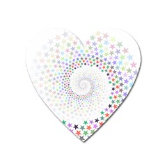 Prismatic Stars Whirlpool Circlr Rainbow Heart Magnet by Mariart