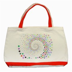 Prismatic Stars Whirlpool Circlr Rainbow Classic Tote Bag (red) by Mariart