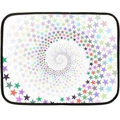 Prismatic Stars Whirlpool Circlr Rainbow Fleece Blanket (mini) by Mariart