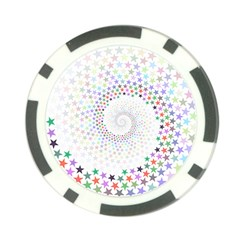 Prismatic Stars Whirlpool Circlr Rainbow Poker Chip Card Guard (10 Pack) by Mariart