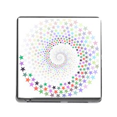 Prismatic Stars Whirlpool Circlr Rainbow Memory Card Reader (square) by Mariart