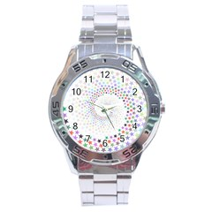 Prismatic Stars Whirlpool Circlr Rainbow Stainless Steel Analogue Watch by Mariart