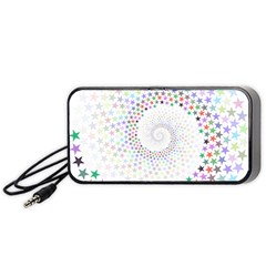 Prismatic Stars Whirlpool Circlr Rainbow Portable Speaker (black) by Mariart