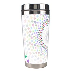 Prismatic Stars Whirlpool Circlr Rainbow Stainless Steel Travel Tumblers by Mariart