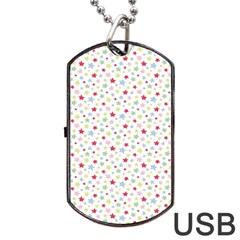 Star Rainboe Beauty Space Dog Tag Usb Flash (two Sides)