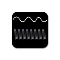 Style Line Amount Wave Chevron Rubber Coaster (square)  by Mariart