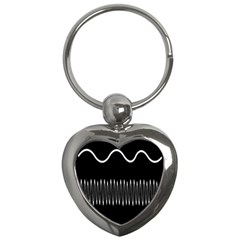 Style Line Amount Wave Chevron Key Chains (heart)