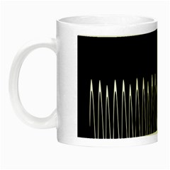 Style Line Amount Wave Chevron Night Luminous Mugs by Mariart