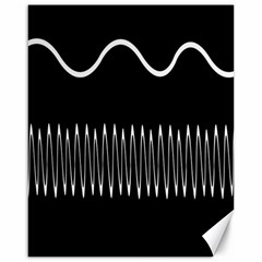 Style Line Amount Wave Chevron Canvas 16  X 20   by Mariart