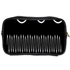 Style Line Amount Wave Chevron Toiletries Bags 2-side by Mariart