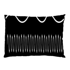 Style Line Amount Wave Chevron Pillow Case (two Sides) by Mariart