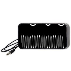 Style Line Amount Wave Chevron Portable Speaker (black) by Mariart